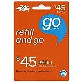 45 Dollar ATT Go Phone Refill Card.