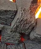 Firebrand Direct - Juego de 20 carbones de gas cuadrados extragrandes para fuegos de gas, fosas de fuego, 20 unidades