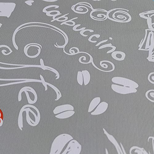 Hule   Mantel Mesa Antimanchas   Mantel Mesa Comedor y Mesa Cocina PVC Impermeable, para Interior y Exterior Diseño Cafe (100_x_140_cm)