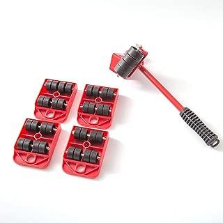 Rosso ngzhongtu Sollevatore di mobili Dispositivi di Scorrimento Facili da spostare Set di Strumenti del Motore da 5 Confezioni Sistema di movimentazione e Sollevamento per apparecchi Pesanti