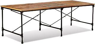 Festnight- Table de Jardin Bois de Récupération Massif Table de Salle à Manger Intérieur Extérieur 240 x 90 x 76 cm