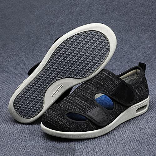 HFCY Zapatos Diabéticos Respirable Zapatos Ortopédicos Pulgar Valgus Zapatos Ajustables, Pie Diabético Ancianos Zapatos,Dark Gray-EU38/240mm