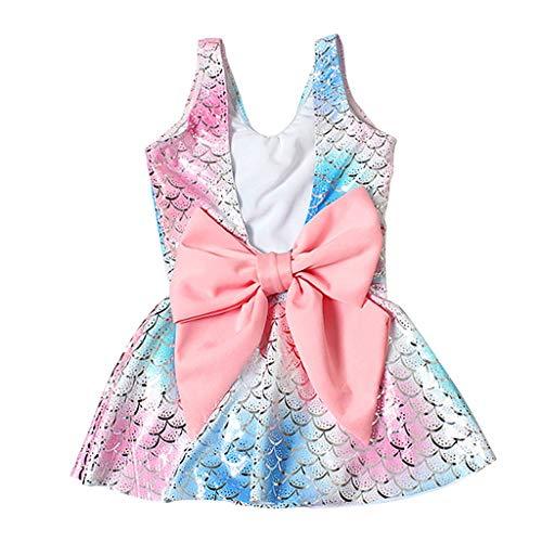 Sunnymi - Bañador para niña de 1 a 15 años, estilo rock, talla grande, diseño de rayas azul azul Talla:1-3 Jahre