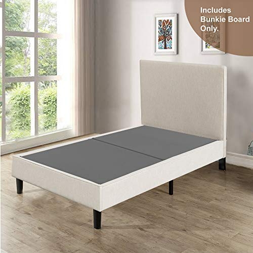 Spinal Solution 2-Inch Wood Split Bunkie Board/Slats,Mattress Bed Support,Fits Standard Twin Size (2 Halves Included), Grey