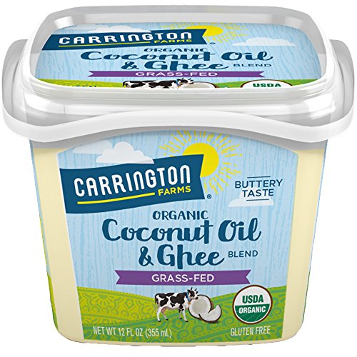 USDA Organic Grass Fed Ghee and Coconut Oil Blend, 12oz, Compare our cost per oz and Certified Organic, Carrington Farms