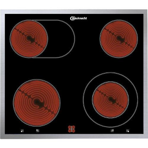 Bauknecht ECV 6640 IN Plaque Intégrée Céramique/Verre/Céramique Face 230 V 50 Hz Noir