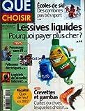 QUE CHOISIR [No 445] du 01/02/2007 - ECOLES DE SKI - LESSIVES LIQUIDES - PERCEUSES SANS FIL - FRITEUSE ELECTRIQUES - LOGICIELS DE SECURITE INTERNET - CREVETTES ET GAMBAS - FISCALITE 2007