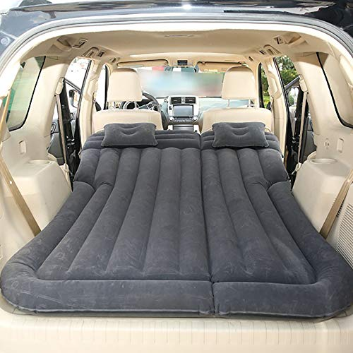 QWY-Car Automatic Air Mattress, Car Camping SUV Trunk Travel Air Bed Foldable, Portable Outdoor Inflatable Mattress Raised Airbed,Black