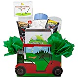 You're The Best by Par Golf Cart Gift Basket. Unique Gift Idea for The Golfer Who Has Everything!   Personalized Gift Message