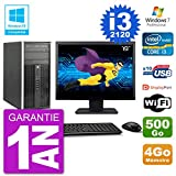 HP - Ordenador portátil 6300 MT (19 in i3-2120 RAM 4 GB disco 500 GB, grabadora de DVD WiFi W7 (reacondicionado)