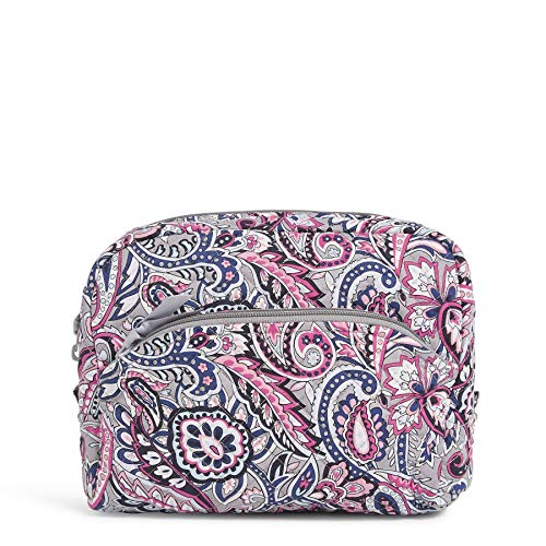 Vera Bradley Women's Signature Cotton Large Cosmetic Makeup Bag, Gramercy Paisley, One Size