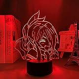 Anime Food Wars Led Luz para Dormitorio Decoración Noche Niños Niños Regalo de Cumpleaños Manga Shokugeki No Soma 3D Lámpara Mesita de noche