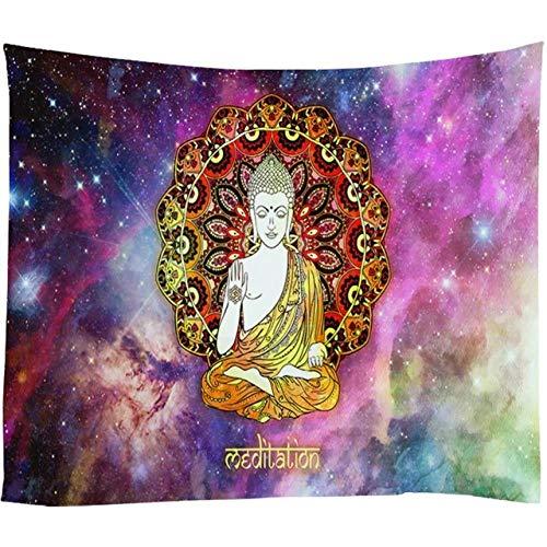 OTXA Tapiz De Elefante Psychedelic Galaxy Starry Indian Mandala Tapiz Retro Hippie Tapicería Tela Boho Decoración para El Hogar Tela De Pared