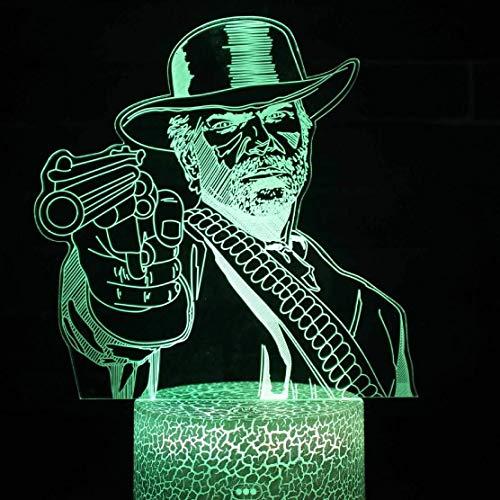 Veilleuse Lumière de Nuit, Dessin animé Illusion 3D, lumière de Nuit LED 3D Night Light Chambre Décor Jeu Cadeaux Décoration de Maison Accessoires
