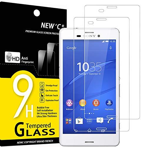 NEW'C 2 Stück, Schutzfolie Panzerglas für Sony Xperia Z3, Frei von Kratzern, 9H Festigkeit, HD Bildschirmschutzfolie, 0.33mm Ultra-klar, Ultrawiderstandsfähig