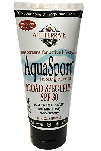 All Terrain Aqua-Sport FPS 30 Lotion écran solaire naturel Oxybenzone-libre, 6 onces