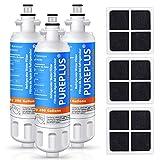 PUREPLUS 469690 LT700P Replacement for LG Kenmore Elite 9690, ADQ36006102, ADQ36006101, LFXS30766S, LFX28968ST, LFX31925ST, LFX31945ST, RWF1052, LT120F, Refrigerator Water and Air Filter Combo, 3Pack