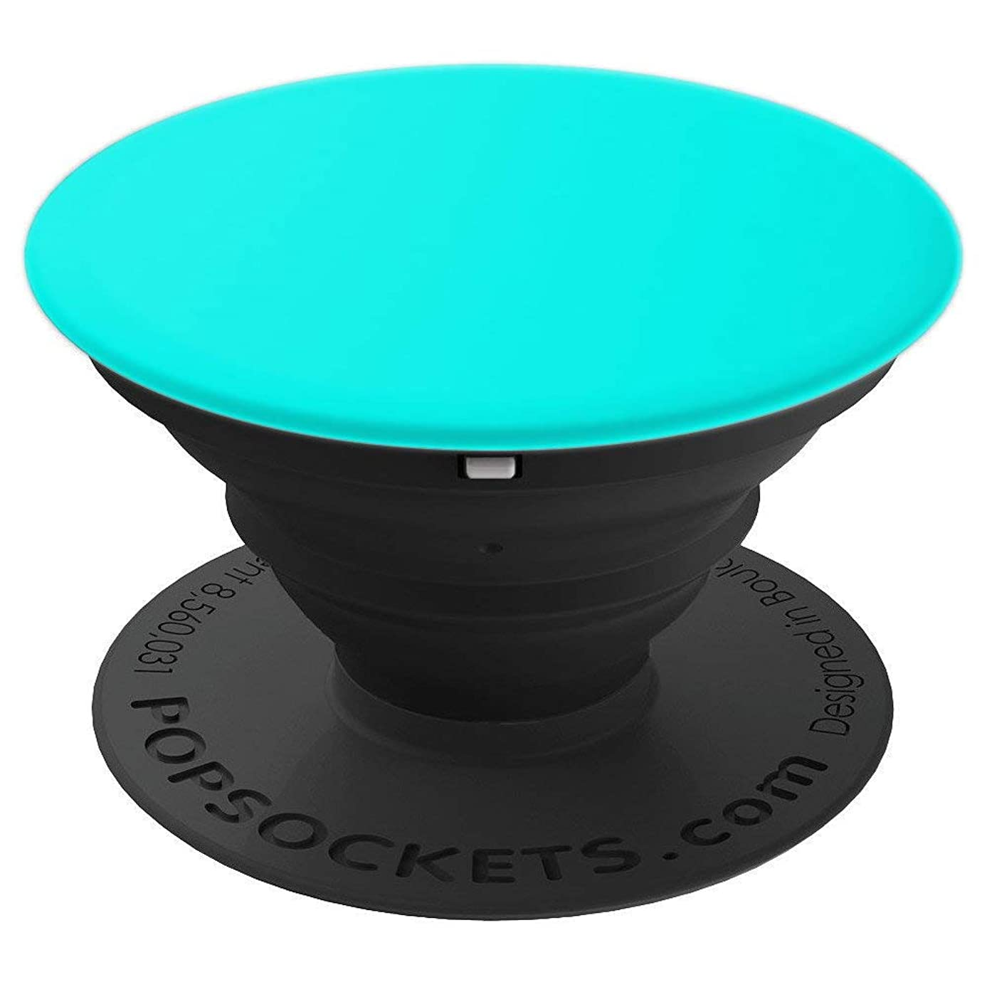 Teal Blue Solid Color Bright Turquoise Ocean Wave Green Tea - PopSockets Grip and Stand for Phones and Tablets