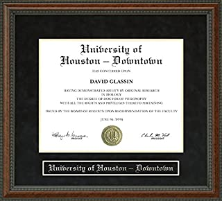 Wordyisms University of Houston - Downtown Walnut Burl Diploma Frame