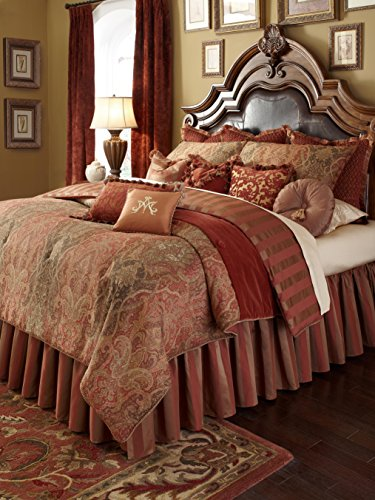 Big Sale Michael Amini Woodside Park 13 pc King Comforter Set in Spice by AICO