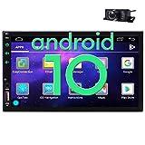EINCAR 2 Din Car Stereo Android 10 Touch Screen Car Radio Bluetooth Double Din Car Player Head Unit GPS Navigation FM/AM RDS Autoradio Video AUX WiFi Mirrorlink Remote Control+Rear Camera
