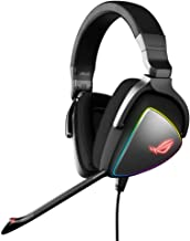 ASUS ROG Delta RGB Gaming Headset with Hi-Res ESS Quad-DAC, Circular RGB Lighting Effect and USB-C Connector for PCs, Cons...
