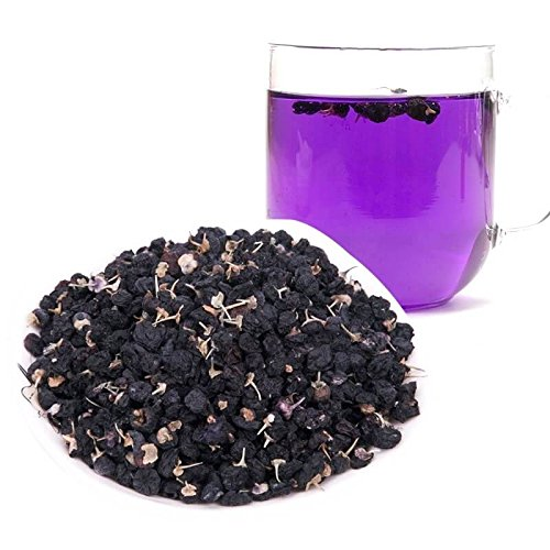 Rare Black Goji Berry Tea - Color-changing Blue Tea that turns naturally pink with a few drops of lemon | Organic & Natural