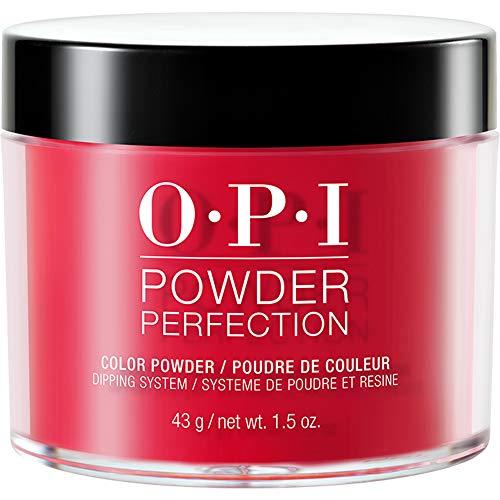 OPI Powder Perfection, Dipping Powder Nail Color, Nail Polish, Red Heads Ahead