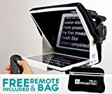 TeleprompterPAD iLight Pro 10'' Blanco - 100x100 Aluminio - Robusto (No plástico endeble). Compatible con iPad/Android. Portátil. Multi...