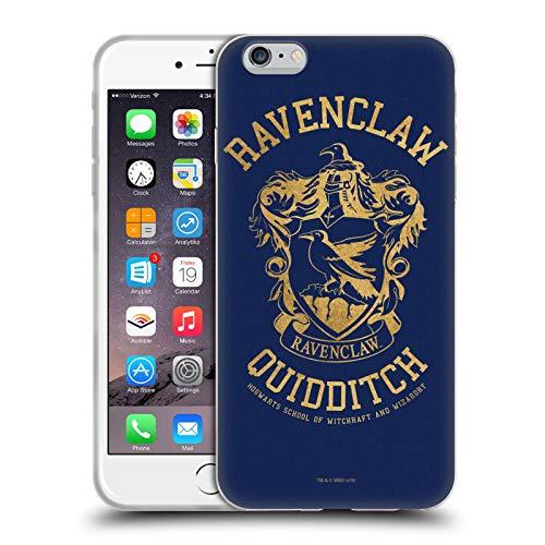 Head Case Designs Oficial Harry Potter Ravenclaw Quidditch Deathly Hallows X Carcasa de Gel de Silicona Compatible con Apple iPhone 6 Plus/iPhone 6s Plus