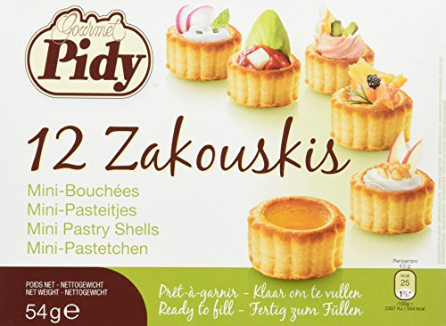 Pidy Hojaldres para Cocktail - Paquete de 3 x 54 gr - Total: 162 gr