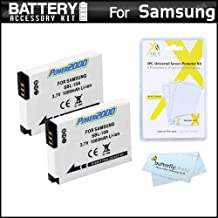2 Pack Battery Kit For Samsung WB750, WB150F, EX2, EX2F, WB350F, WB1100F, WB2100, WB800F, WB250F Digital Camera Includes 2 Extended Replacement (1000Mah) SLB-10A Batteries + LCD Screen Protectors + MicroFiber Cleaning Cloth