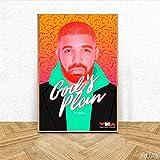 Amokr Leinwand Bedrucken 60x90cm kein Rahmen Drake Music