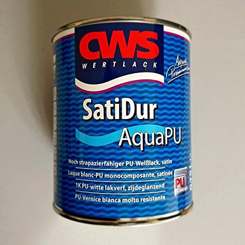 CWS WERTLACK® SatiDur Aqua PU weiss 750 ml Inhalt