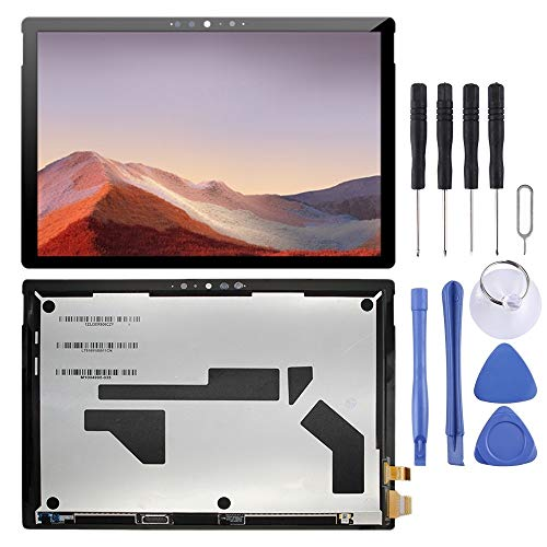 Lingland Cell Phone kit LCD Screen and Digitizer Full Assembly for Microsoft Surface Pro 7 1866(Black) Screen Overall Assembly (Color : Black)