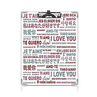 クリップボード A4 愛の装飾 子供の贈り物バインダー さまざまな世界の言語での感情的なメッセージ愛には壁や文化がない芸術的なテーマ A4 タテ型 クリップファイル ワードパッド ファイルバインダー 携帯便利ホワイトグレーレッド