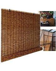 XYNH Store Enrouleur Bambou, Rideau De Roseau, Filtrage De La Lumière/Étanche/Anti-UV, Store Exterieur Enrouleur pour Patio/Jardin/Fenêtre/Porte/Cuisine, Store en Bambou
