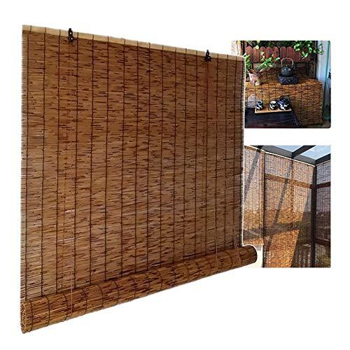 XYNH Bambusrollo Outdoor, Rollo Bambus, Lichtfilterung/Wasserdicht/Anti-UV,Rollo Bambus, Für Terrasse/Garten/Fenster/Tür/Küche, Bambusrollo Sonnenschutz (Size : 150 x 155 cm (59 in x 61in))