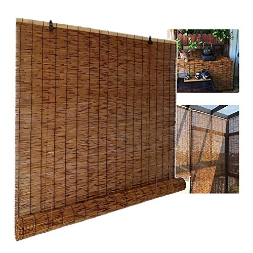 XYNH Bamboo Blinds Outdoor, Roman Roller Blinds ANY SIZE - Light...
