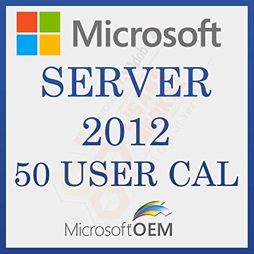 MS Server 2012 User CAL 50 | Con Factura | Versión Completa, Licencia Original de por vida, código de activación de la licencia de correo electrónico y tiempo de entrega del mensaje: de 0 a 6 horas