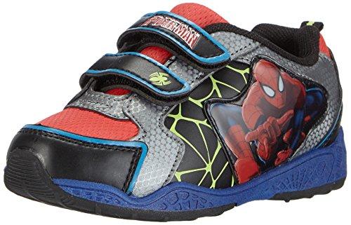 Spiderman Boys Kids Athletic Sport, Baskets Basses Garçon, Mehrfarbig (547 Black/Red/D.Pewter), 24 EU