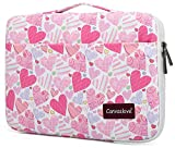 Canvaslove Loving Pattern Conner Bottom Rebound Bubble Protection Waterproof Laptop Sleeve Case with Handle and Pockets for 15 Inch and 15.6 Inch Laptop