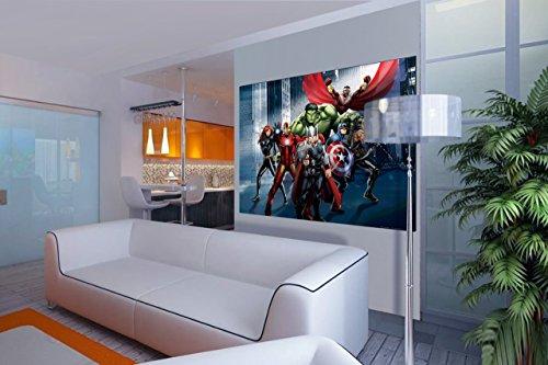 AG Design FTDm 0718 Avengers Marvel, Papier Fototapete Kinderzimmer- 160x115 cm - 1 Teil, Papier, multicolor, 0,1 x 160 x 115 cm