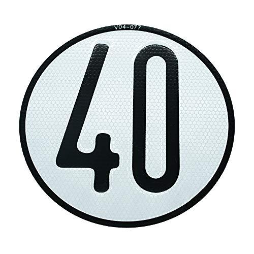 Autodomy Placa Disco de Velocidad 40 Km/h V4 Homologada Reflectante