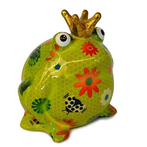 pomme-pidou Frosch Greenline mit Blumen 2
