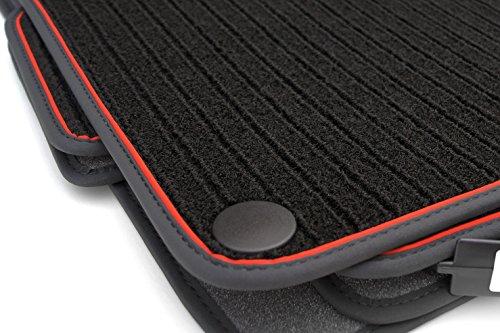 kh Teile Fußmatten W203 S203 Rips Automatten Original Qualität Ripsmatten 4-teilig Schwarz Rot