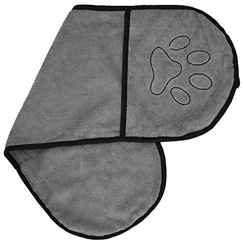 Furpaw Handtuch Hund Mikrofaser Schnelltrocknend Extra Saugfähig, Badezubehör für Hunde Labrador Teddy - 63,5 * 21cm