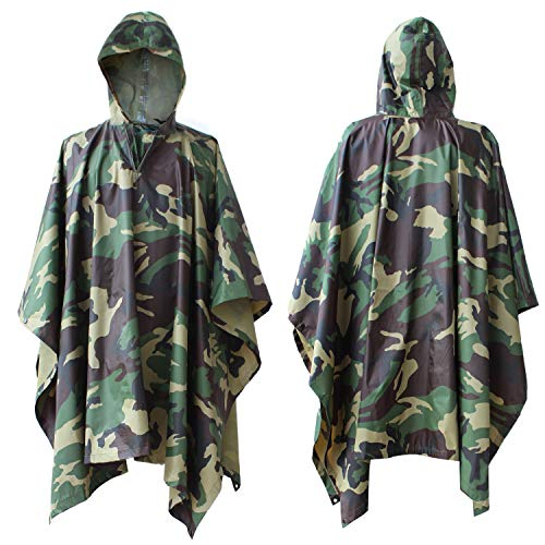 HOVNEE Rain Poncho for Man//Women 100/% Waterproof Poncho with Chest Pocket and