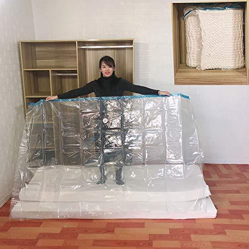 Bqy Vakuumbeutel Aufbewahrungsbeutel Für Kleidung Bettdecken Bettwäsche Matratze-Beutel for Umzug Lagerung Heavy Thick Plastic Wrap-Schutz Wiederverwendbare Taschen Zubehör (Size : 240 * 130 cm)