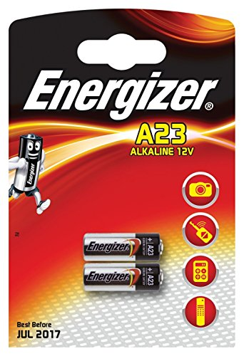Energizer A23 Battery, 12 Volt - 2 Pack Great for Electronics Like A23 12 Volt Photo / Garage Door Opener / Electronic Keychain Eveready Energizer Battery 2 Pack by Energizer
